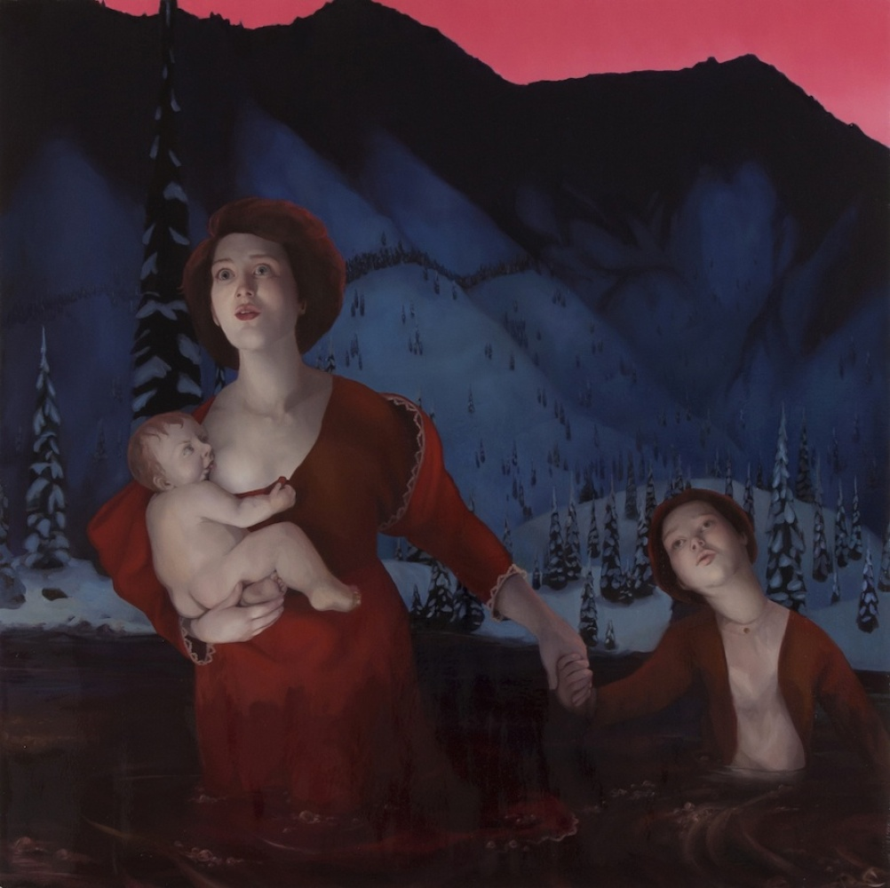 """Into The Frey, 2012 Oil on canvas over panel 48"""" x 48"""""""