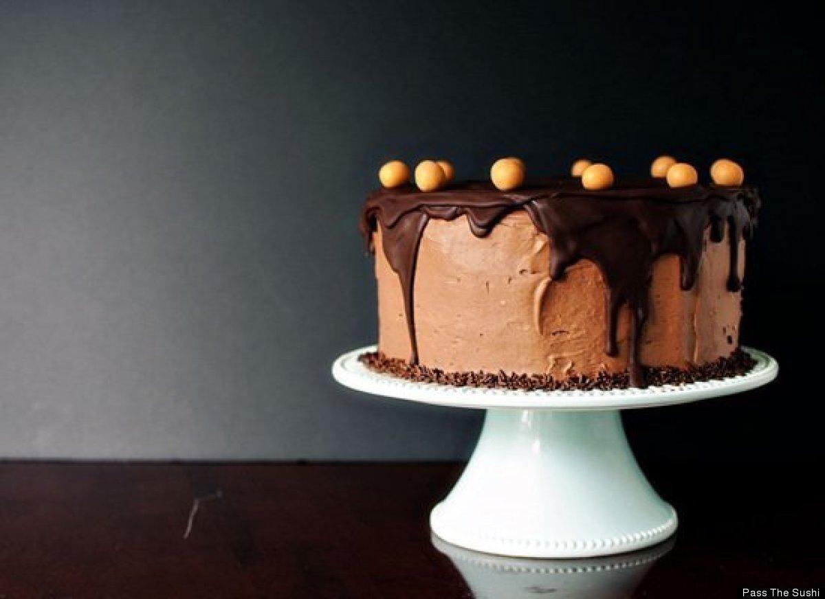 "<strong>Get the <a href=""http://passthesushi.com/chocolate-peanut-butter-birthday-cake/"" target=""_hplink"">Chocolate Peanut Bu"