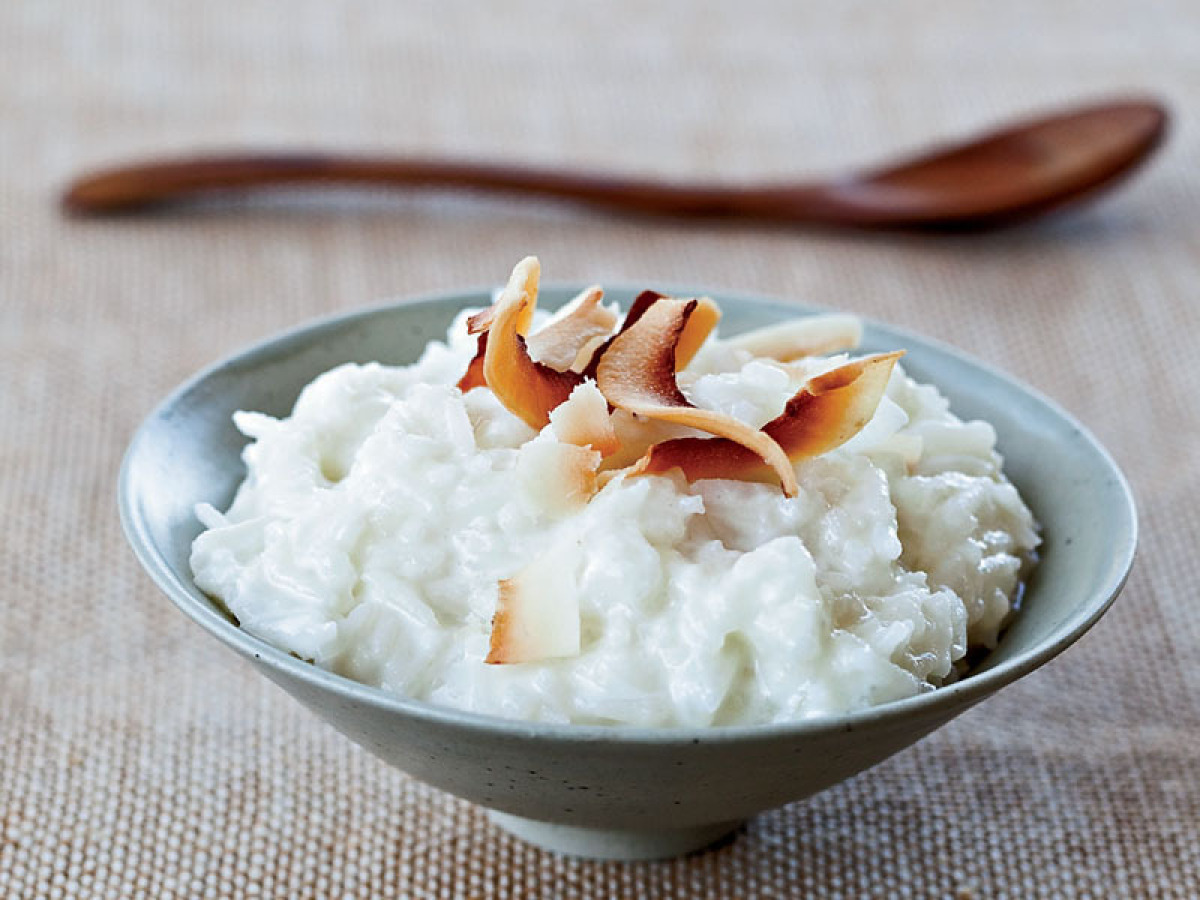 Arborio rice is a great variety to use for rice pudding since the grains stay perfectly firm and chewy. Topping this simple p