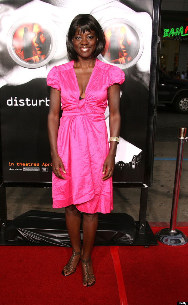 HOLLYWOOD - APRIL 04:  Actress Viola Davis arrives at Paramount Pictures' premiere of 'Disturbia' at the Mann Chinese Theatre