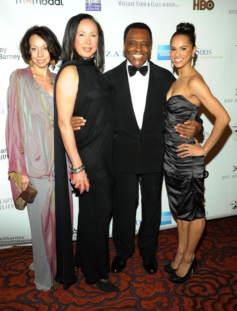 NEW YORK, NY - FEBRUARY 28: (L-R) Carol Craig, Virginia Johnson, Arthur Mitchell and Misty Copeland attends the 2012 Dance Th