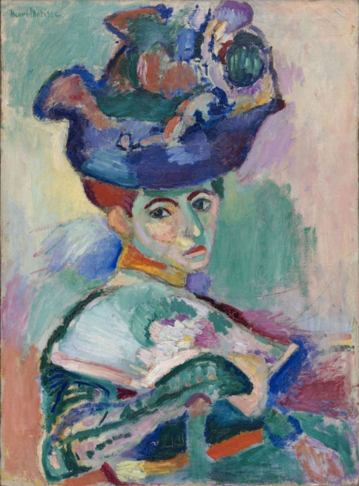 Henri Matisse (French, 1869-1954) Woman with a Hat, 1905  Oil on canvas  31 3/4 x 23 1/2 in. (80.7 x 59.7 cm)  San Fran