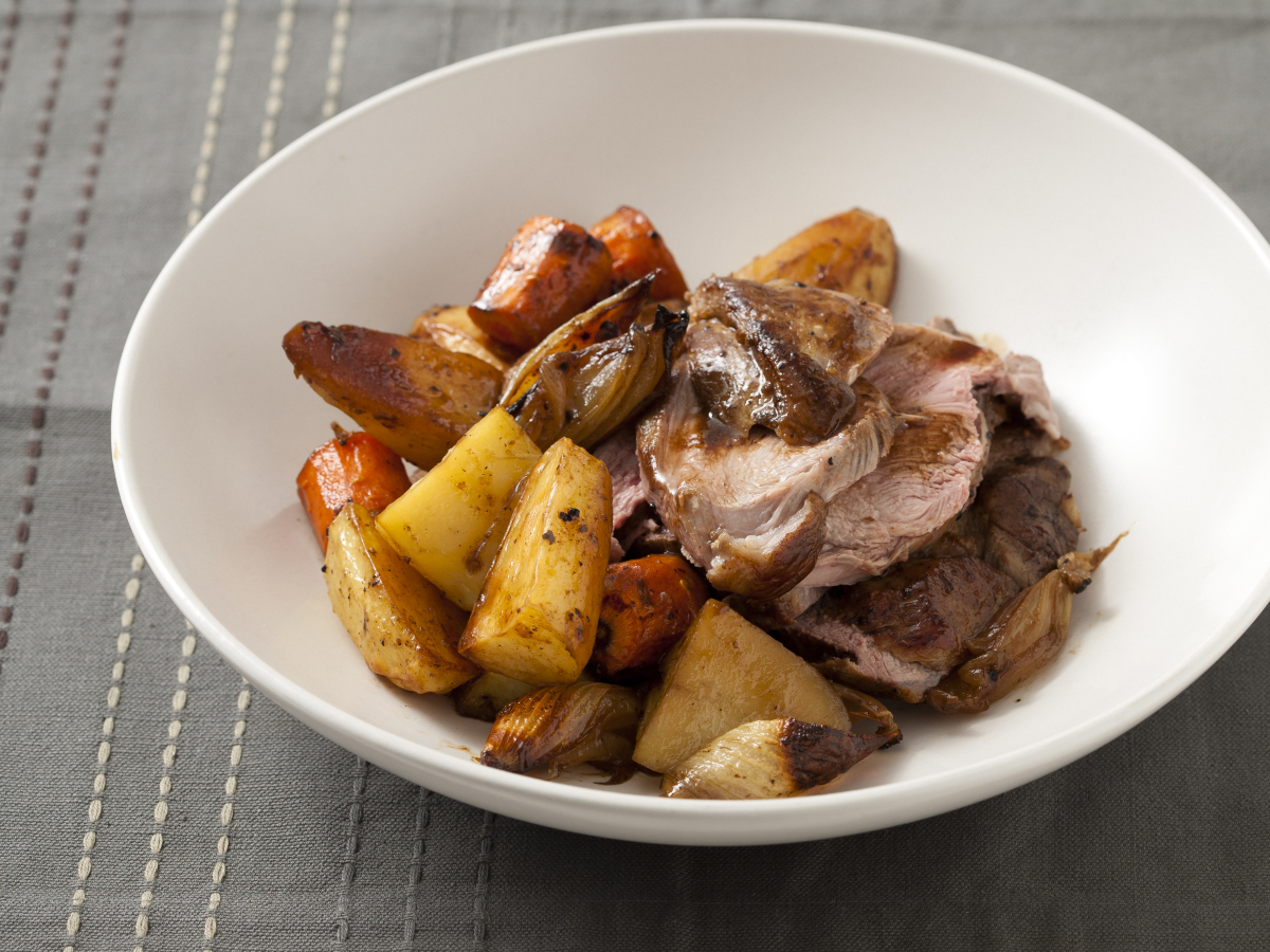 Lamb is one of those meats that we don't often turn to, but when prepared correctly it's melt-in-your-mouth tender -- and so
