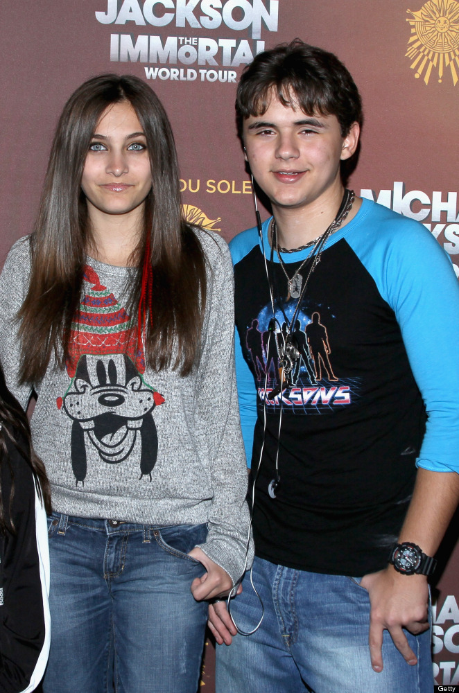 LOS ANGELES, CA - JANUARY 27:  Paris Jackson and Prince Jackson attend the Los Angeles premiere of Michael Jackson 'THE IMMOR