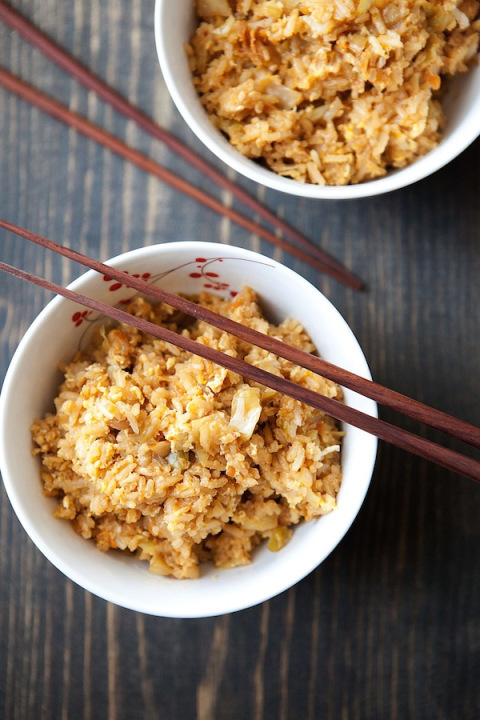 "<strong>Get the <a href=""http://fiveandspice.wordpress.com/"">Gingery Kimchi Fried Rice recipe from Five and Spice</a></strong"