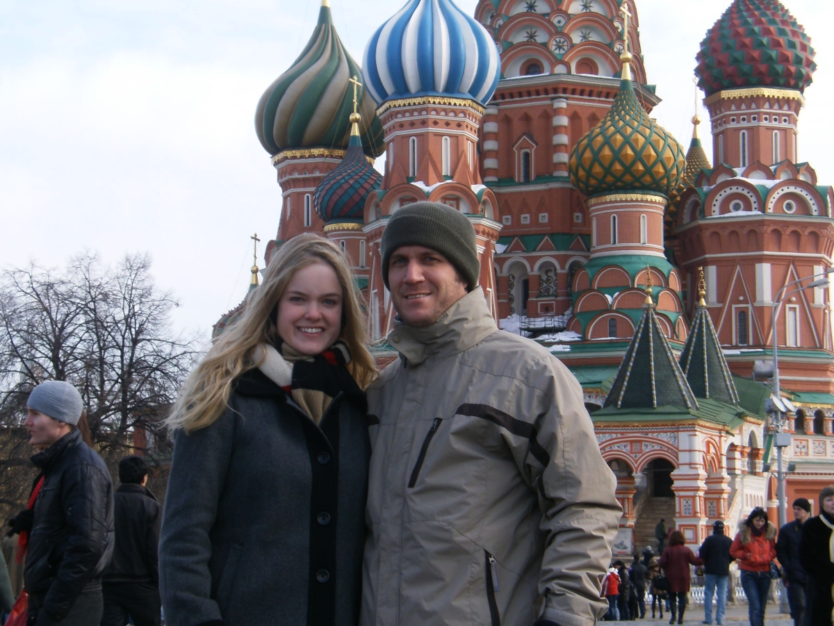 St. Basil's Cathedral on Red Square stands iconic as ever in early March.