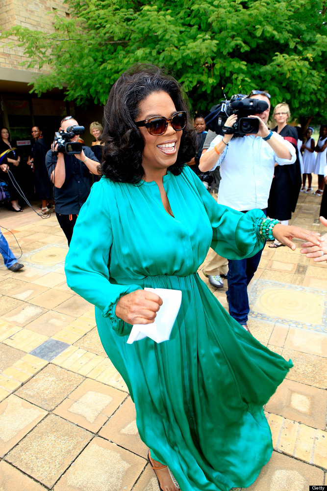 "The Daily Beast recognized Winfrey for what the publication called her ""defining"" past year. The media mogul ended her 25-yea"