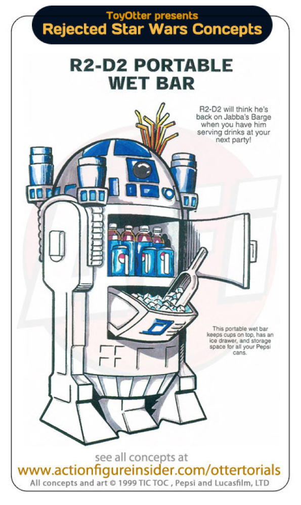 """R2D2 will think he's back on Jabba's Barge when you have him serving drinks at your next party! This protable wet bar keeps"