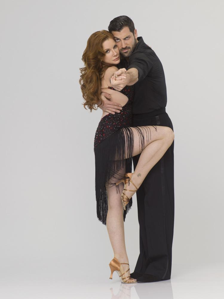 Melissa Gilbert and Maksim Chmerkovskiy.