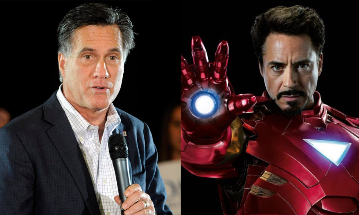 Tony Stark may be a little (ok, a <em>lot</em>) cockier than Romney, however, they do have several things in common: billiona
