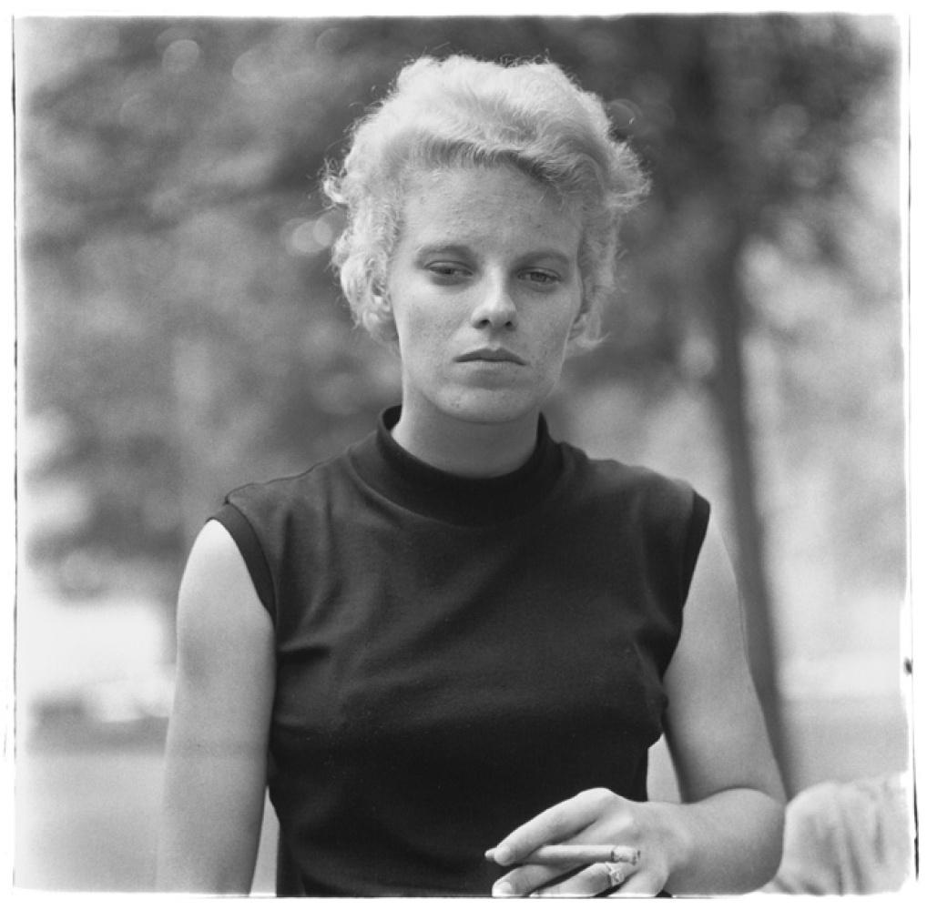 Diane Arbus Girl with a cigar in Washington Square Park, N.Y.C. 1965 © The Estate of Diane Arbus