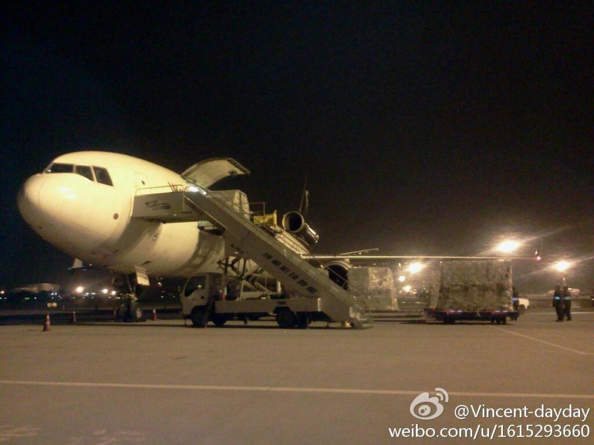 Look at this airplane. LOOK AT IT! It may look like any other cargo plane at the Chengdu International Airport, but no -- it