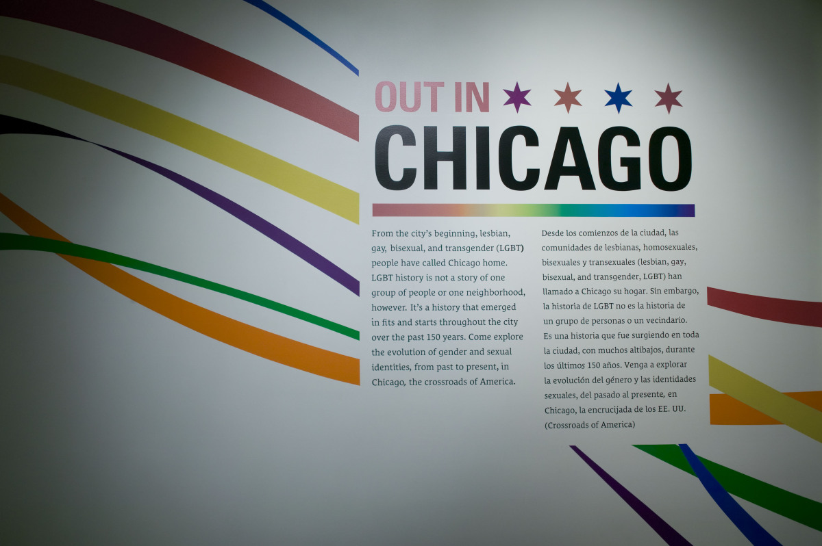 """""""Out in Chicago"""" at the Chicago History Museum."""