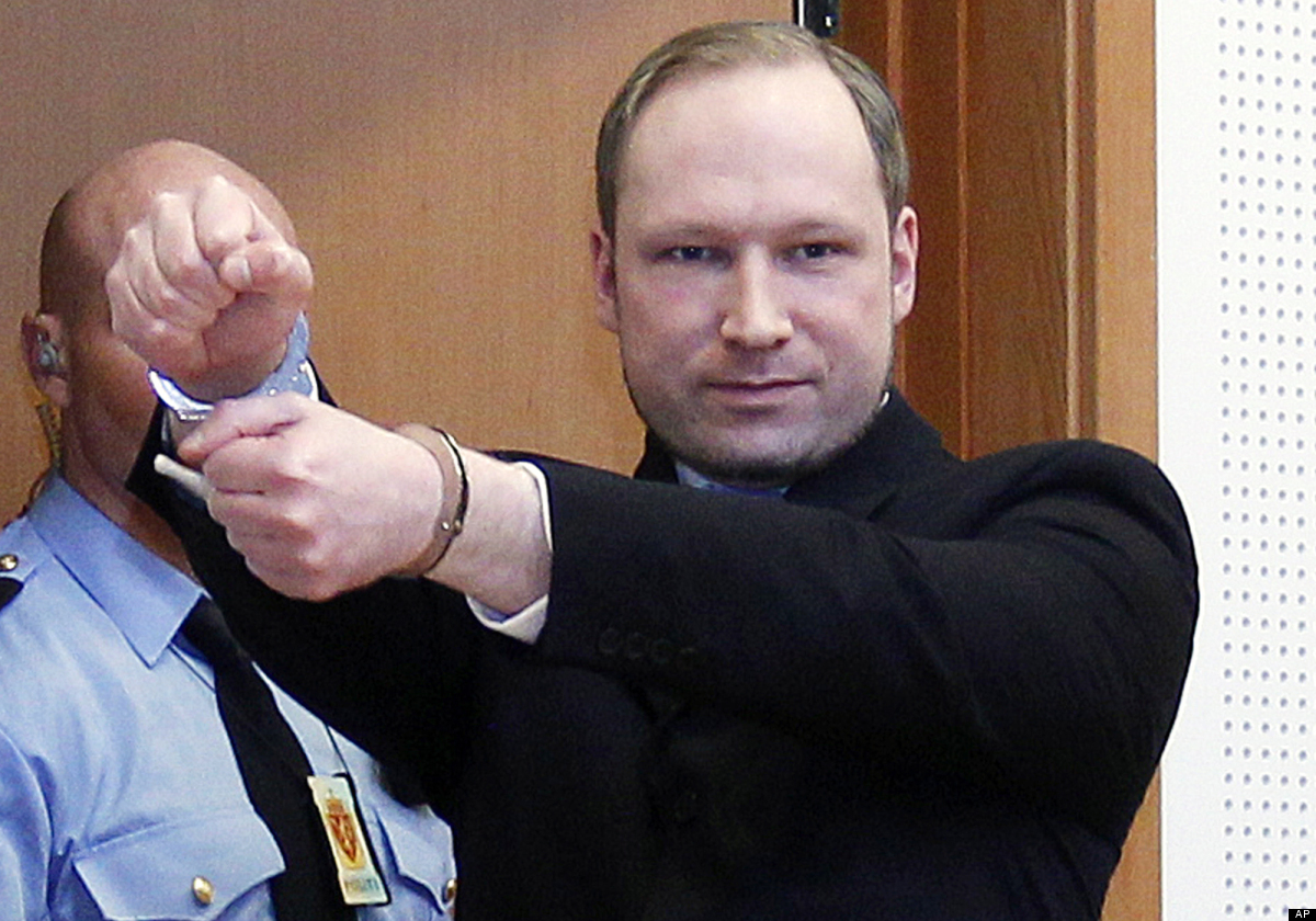 Anders Behring Breivik, a right-wing extremist who confessed to a bombing and mass shooting that killed 77 people on July 22,