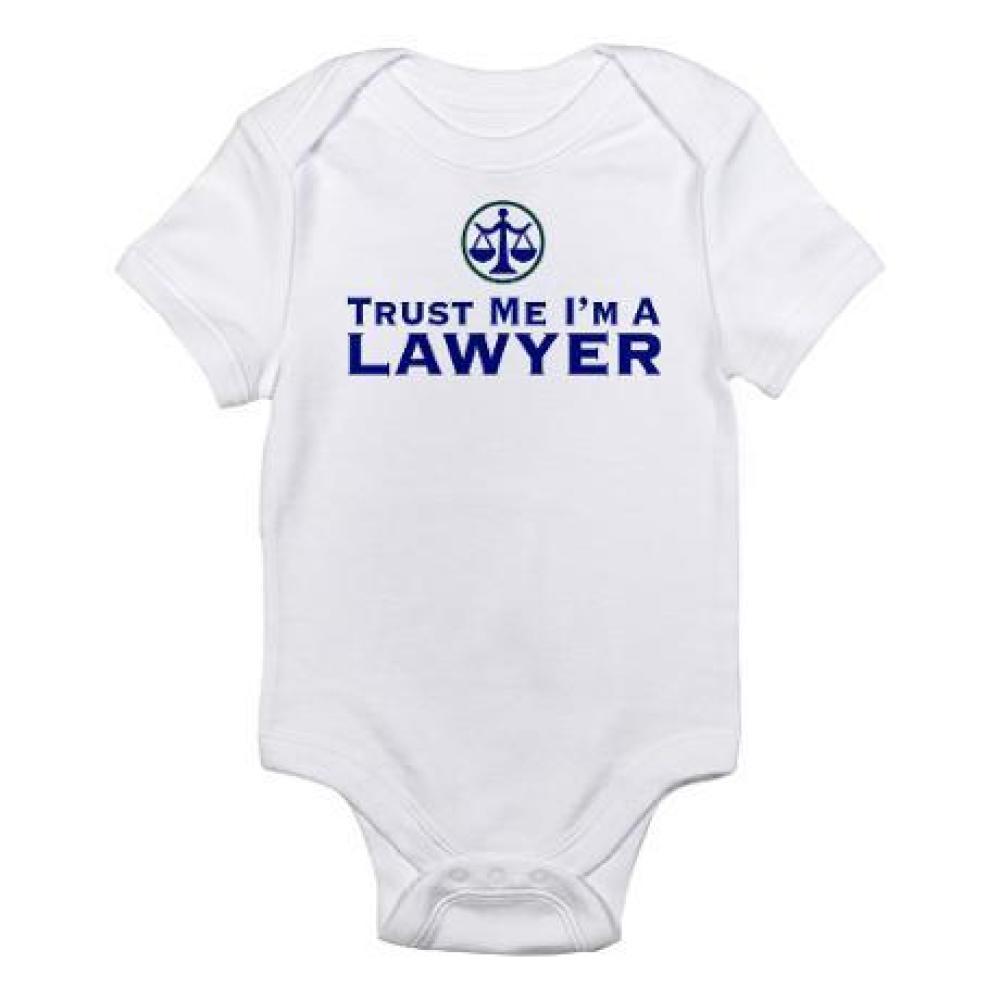 "<a href=""http://www.cafepress.com/+trust_me_im_a_lawyer_infant_creeper,43898042"" target=""_hplink"">via Cafepress</a>"