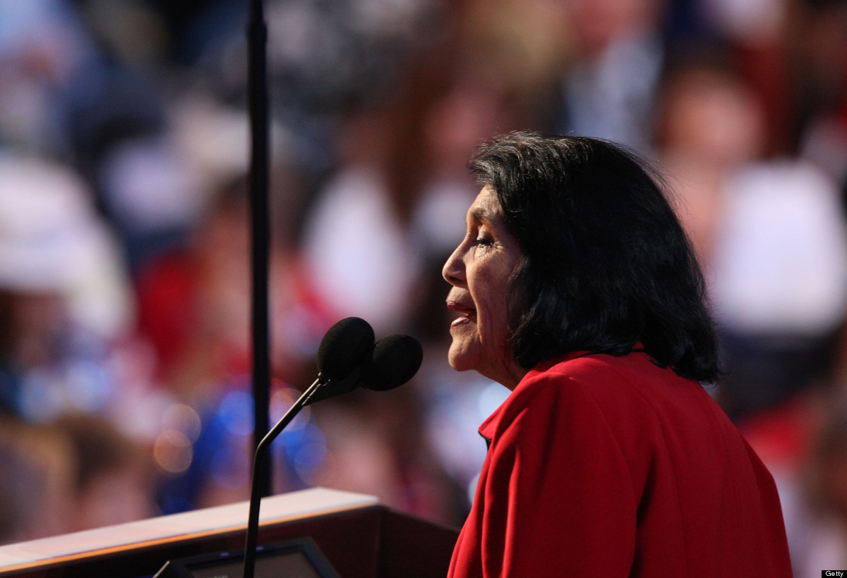 Mexican-American civil rights leader and activist Dolores Huerta co-founded the National Farm Workers Association (NFWA) with