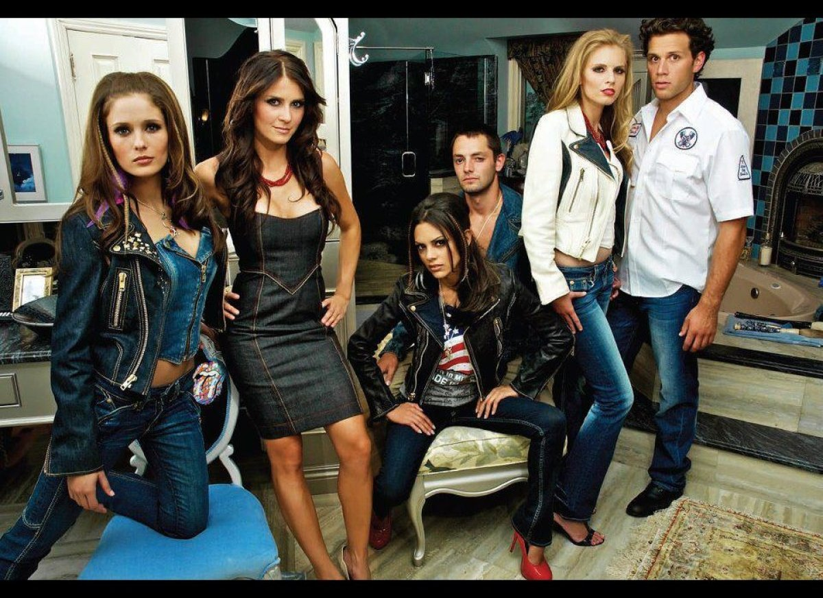 """The photo shows designs from an earlier Motor City Denim Co. collection, for which Joe Faris, former """"Project Runway"""" contest"""