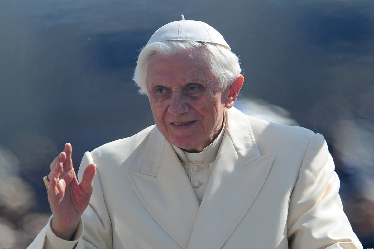 """Pope Benedict on Friday denounced the """"powerful political and cultural currents"""" seeking to legalise gay marriage in the Unit"""