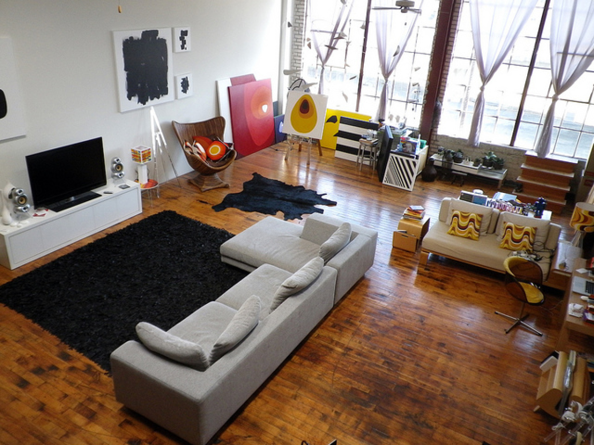 Inside Dee Adams's Oakland loft apartment.