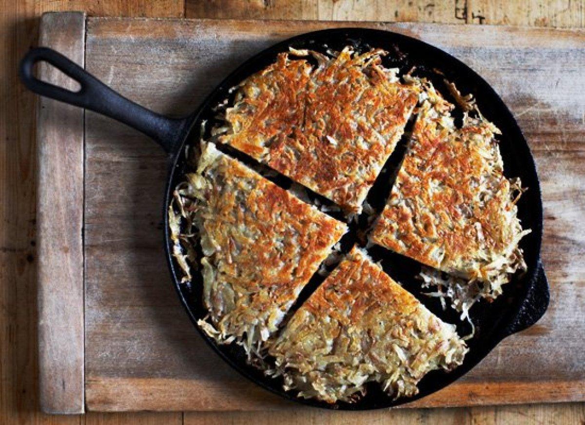 A boxty is a classic Irish dish much like hash browns that can be enjoyed for breakfast as a side dish. It's made of grated p