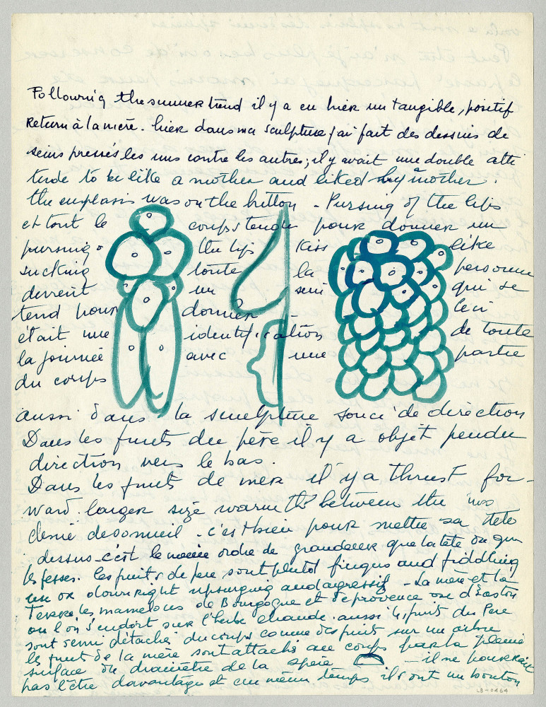 Louise Bourgeois, loose sheet, c. 1959: 27.9 x 21.6 cm. LB-0464; Louise Bourgeois Archive, New York, © The Easton Foundation
