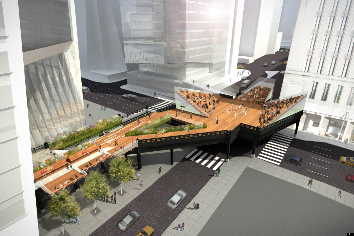In this artist's rendering provided by Friends of the High Line on Monday, March 12, 2012, part of the High Line's third sect