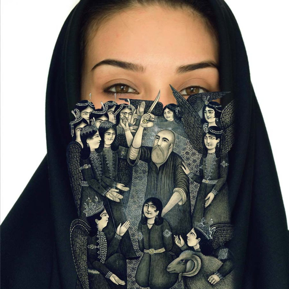 Sadegh Tirafkan 'The Loss of Our Identity #6' 94 X 74 cm. Digital Photo Collage Edition 4 out of 6 2007