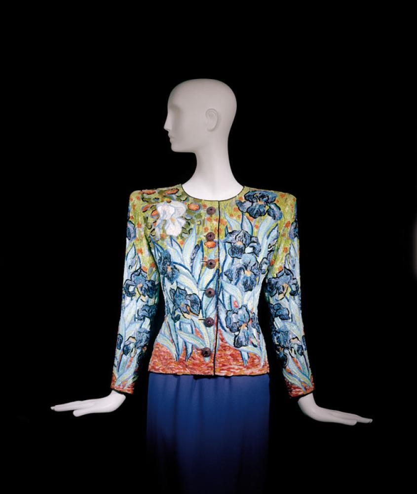 Yves Saint Laurent, Short evening ensemble, Tribute to Vincent Van Gogh, haute couture collection, Spring-Summer 1988. Jacket