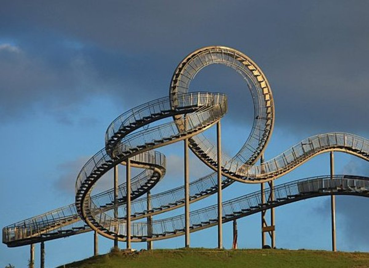 It looks like a standard roller coaster from a distance, but upon closer inspection, you'll be faced with an ingenious stairc