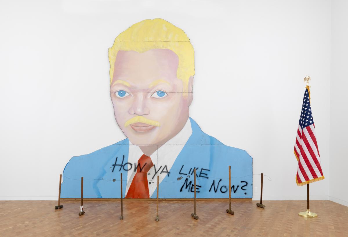 David Hammons, How Ya Like Me Now?, 1988. Glenstone. Photo: Tim Nighswander/Imaging4Art.