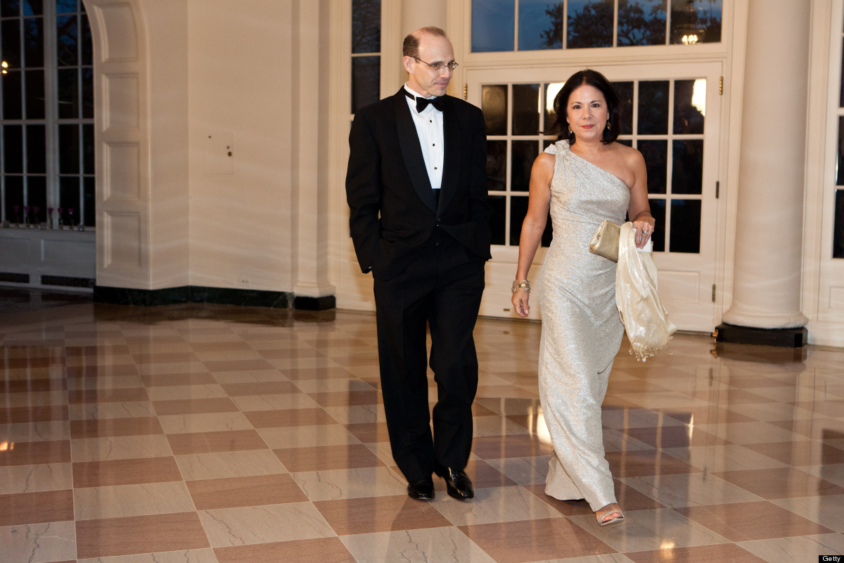 WASHINGTON - MARCH 14: Jason P. DeParle (L) and Nancy Ann Min DeParle, White House Deputy Chief of Staff, arrive for a State
