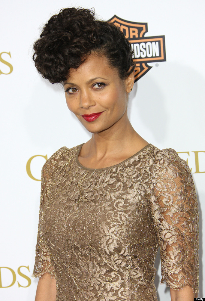 LOS ANGELES, CA - FEBRUARY 14:  Actress Thandie Newton attends the Premiere of Tyler Perry's 'Good Deeds' at the Regal Cinema