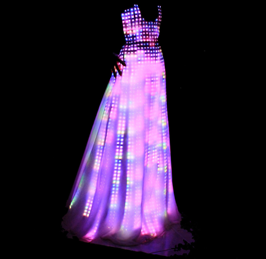 cutecircuits electric fashion light up dresses have