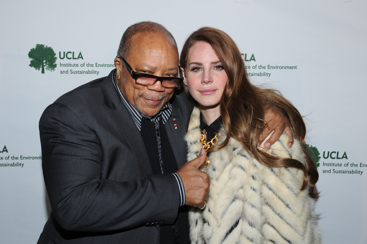 LOS ANGELES, March 15, 2012 - Quincy Jones and Lana Del Rey at a fundraiser for UCLA's Institute of the Environment and Susta