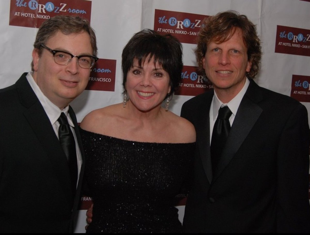 Rrazz Room co-owners Rory Paull (left) and Robert Kotonly with Joyce DeWitt at last year's anniversary gala. (Photo: Steven U