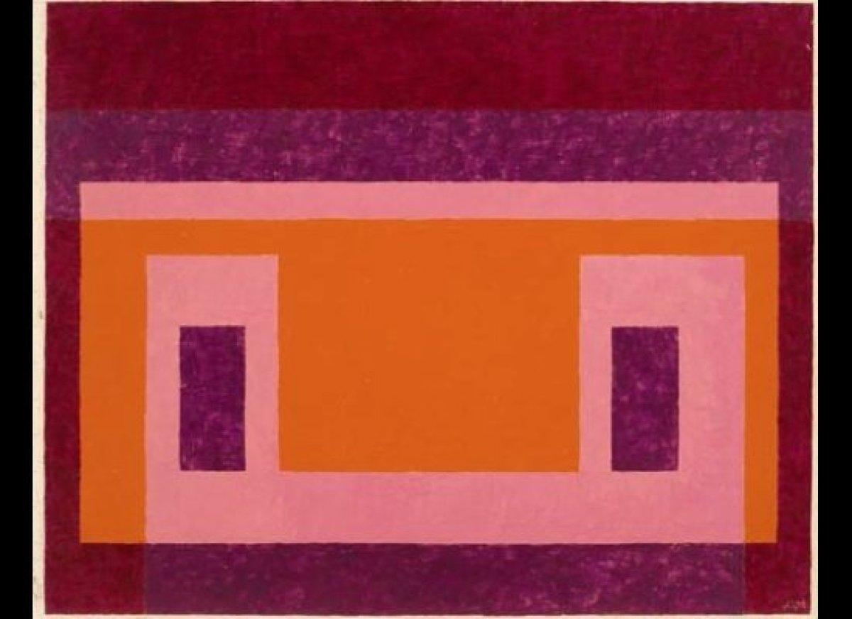 Variant / Adobe, Red, Violet around Orange, Pink, 1948  Oil on masonite