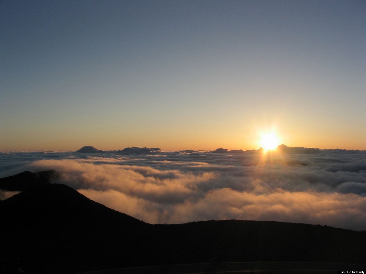 Photo: <em>An early wake-up... for Haleakala National Park</em>  Boarding a bus in the wee hours of morning is a pain, part