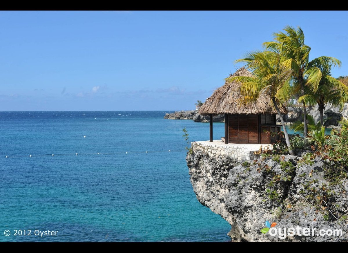 First up, the aptly named Rockhouse Hotel, which was built right into the rugged cliffs of Negril, Jamaica. Loungers can be f