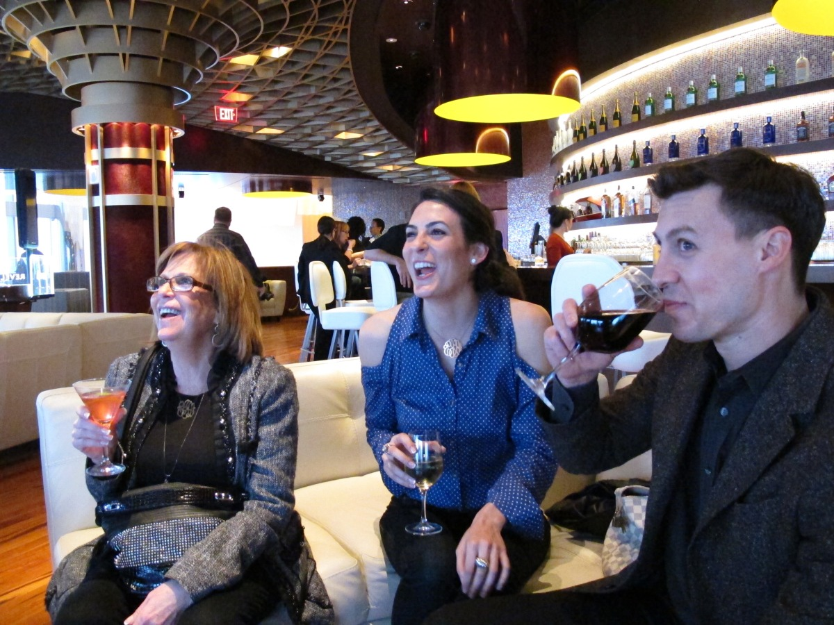 Sheri Frankel, left, Ashley Frankel, center, both of Margate, N.J., and Todd Gordon, right, of Atlantic City, N.J., enjoy dri