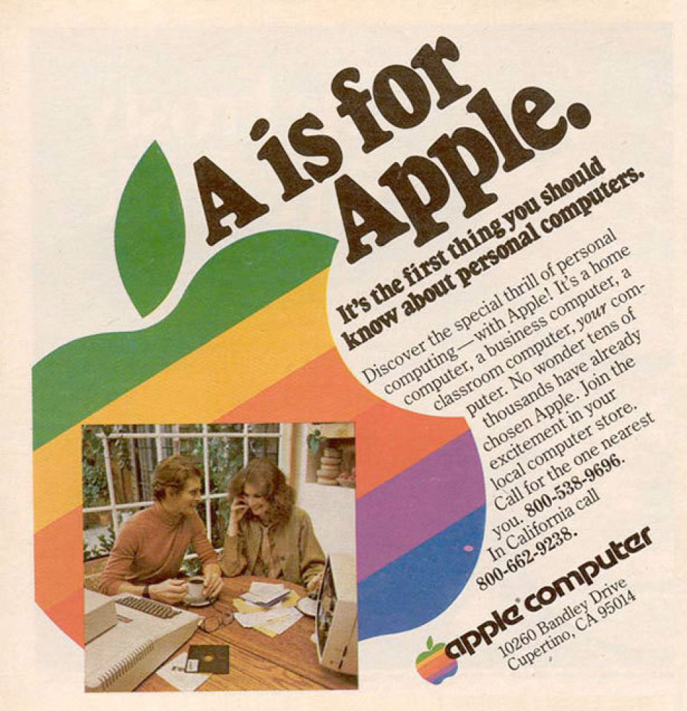 Print ad from 1977, prior to the launch of Apple's Macintosh.