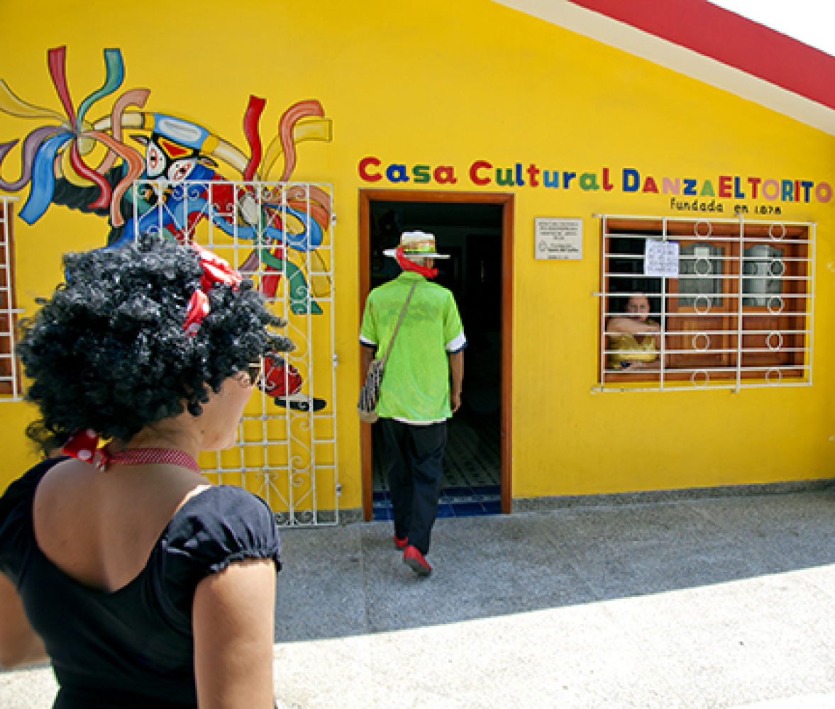 A community center where the traditions of Carnival are practiced and maintained.  <em>Photo: Paul Ross</em>