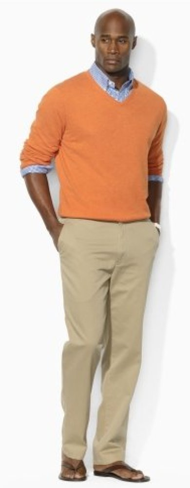It's true, real men can wear color. Find the best shade that flatters your skin tone, pair with neutral khakis and watch the