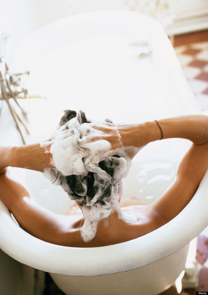Hair should be washed once a week or every other week to avoid build-up of hair care products, which can be drying to hair.