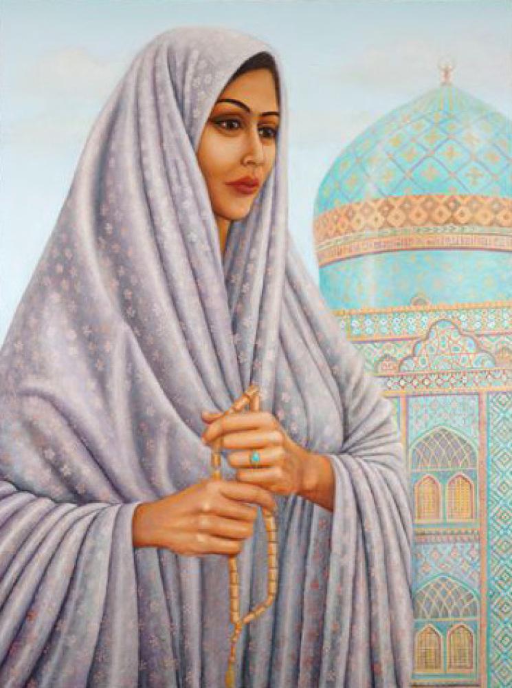 Tahirih (ca. 1817-1852), eminent Iranian poet-scholar; one of the original 19 followers of the early Baha'i movement. As she