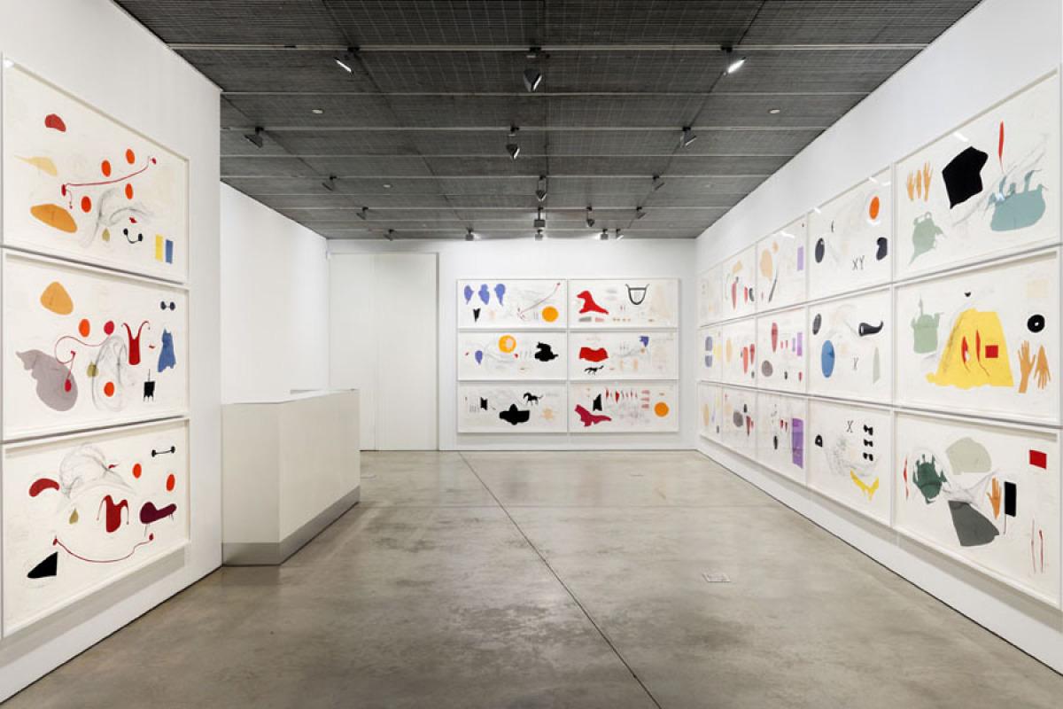 Jorinde Voigt Piece for Words and Views I-XXXVI 2012 Installation view Courtesy of David Nolan Gallery, New York