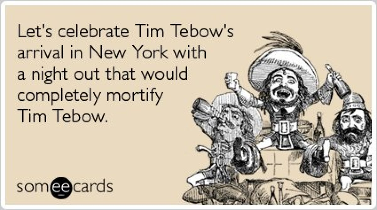 "<strong><a href=""http://www.someecards.com/weekend-cards/weekend-party-tim-tebow-new-york-funny-ecard"" target=""_hplink"">To se"