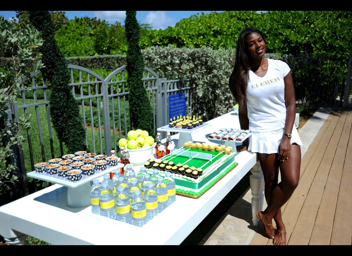 Venus Williams at the launch of her EleVen Capsule Collection at The Bath Club, Miami Beach