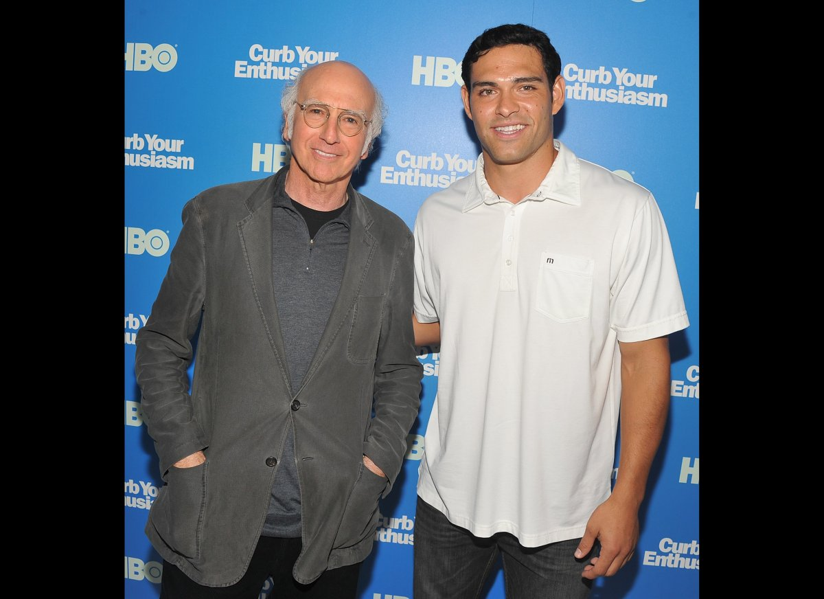 """Mark Sanchez got close with Larry David at the """"Curb Your Enthusiasm"""" season 8 premiere. Perhaps he was already eyeing televi"""