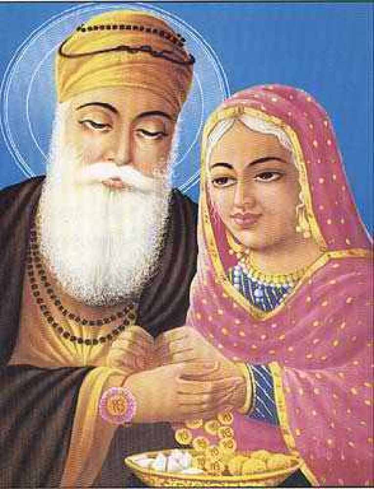 The First Sikh  Born in Chahal village (now Lahore, Pakistan), Mata Nanaki loved and nurtured her younger brother Nanak.  I