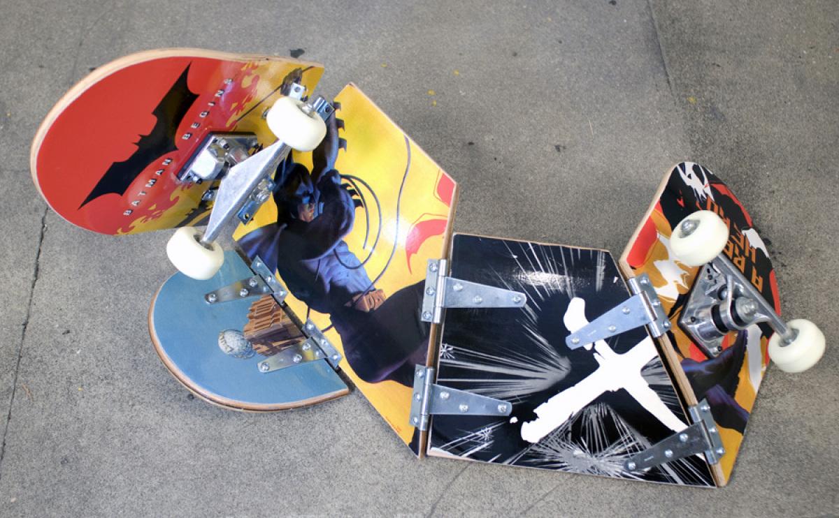 Dario Escobar, 2008 <em>Untitled</em> Cut skateboards (Wood, plastic, stainless steel) Dimensions variable View 1 Image